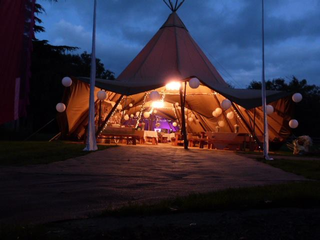 Festival Style Wedding Venue at Cwtch Camp or Dews Lake Farm