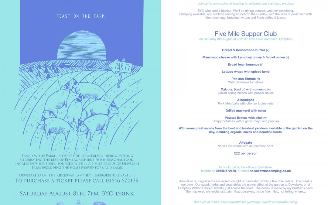 Feast on the Farm – 3 course alfresco dining evening